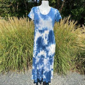See you Monday blue Tie Dye Maxi Dress